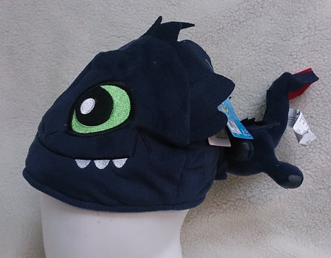How to Train Your Dragon Cosplay Furry Plush Hat Beanie Cap - T2
