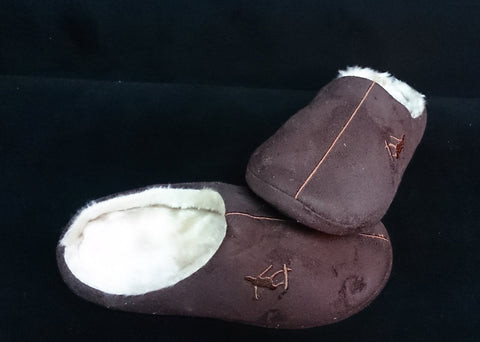 Furry Plush Adult Shoes Slippers ___ Brown color ___ 28cm