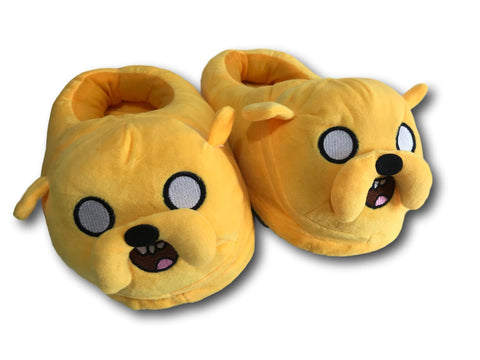 Adventure Time Jake Dog Soft Stuffed Plush Slippers Home Indoor Warm Shoes 28cm