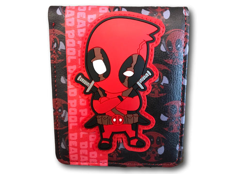 Marvel Avengers Super Hero short Wallet Comic Purse Purses Red Black Dead Pool