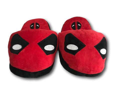 Deadpool Soft Stuffed Plush Red Slippers Home Indoor Warm Shoes 28cm