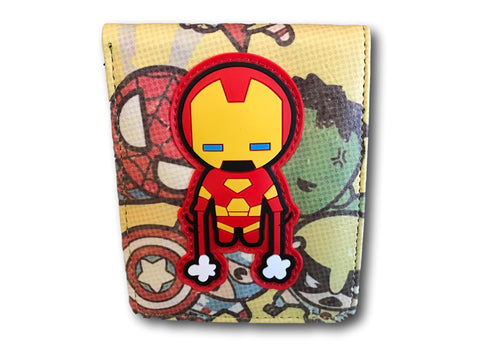 Marvel Avengers Super Hero short Wallet Comic Purse Ironman Spiderman Thor Xmen