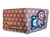 Marvel Avengers Super Hero short Wallet Comic Purses Purse Captain America