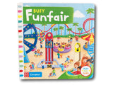 Campbell Busy Funfair Kids Children Baby Push Pull Slide Board Book