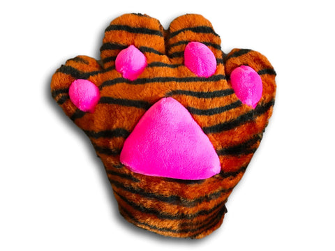 Claw Cat Kitten Maid Anime Costume Plush Cosplay Party Paws Gloves Tiger Vein