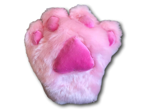 Sexy Claw Cat Kitten Maid Anime Costume Plush Cosplay Party Paws Gloves PINK