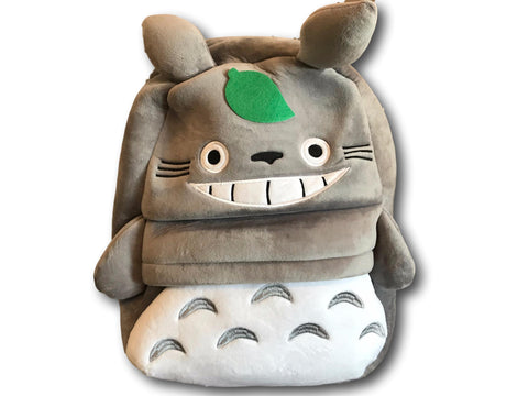 Ghibli Neighbour Totoro Leisure Plush Backpack School Bag Cartoon Schoolbag