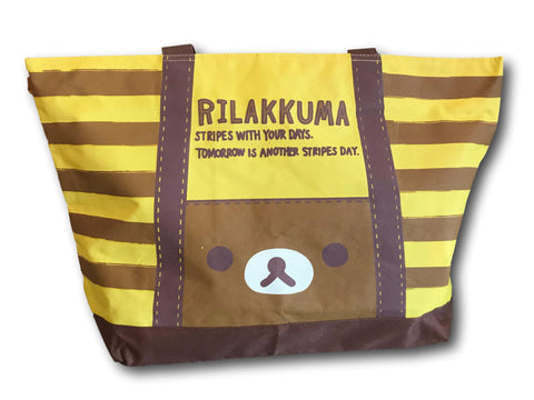 Cute Brown Rilakkuma relax bear shoulder Bags Big Shopping Bag Tote Handbag