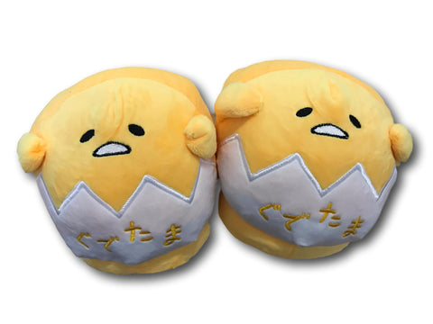 Anime cartoon gudetama lazy egg funny Yellow Plush home indoor floor slippers T1