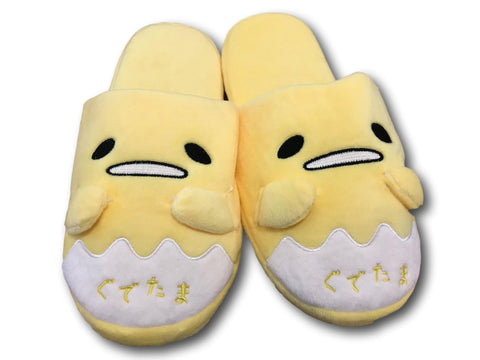 Anime cartoon gudetama lazy egg funny Yellow Plush home indoor floor slippers T2