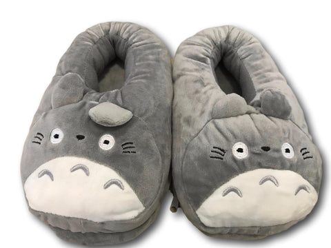 USB Totoro Ghibli Cosplay Adult Plush Rave Shoes Slippers 10""