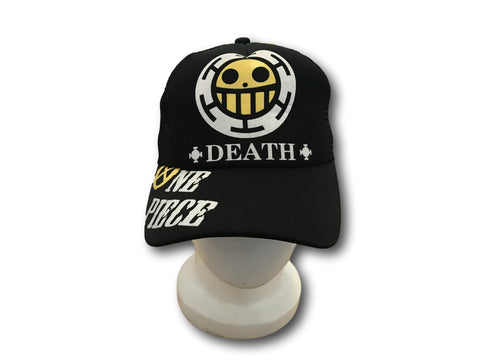 Anime One Piece Trafalgar Law Sign Skull Head Baseball Cap Sunhat Cosplay Hat T2