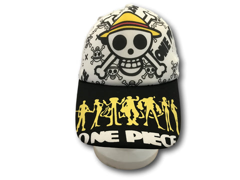 Japanese Anime One Piece Monkey-D-Luffy skull mark Baseball Cap Cosplay Hat T2