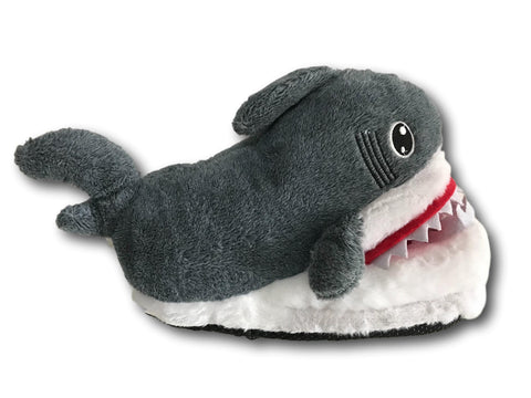 Gray Shark Soft Stuffed Plush Animals Slippers Home Indoor Warm Shoes 28cm