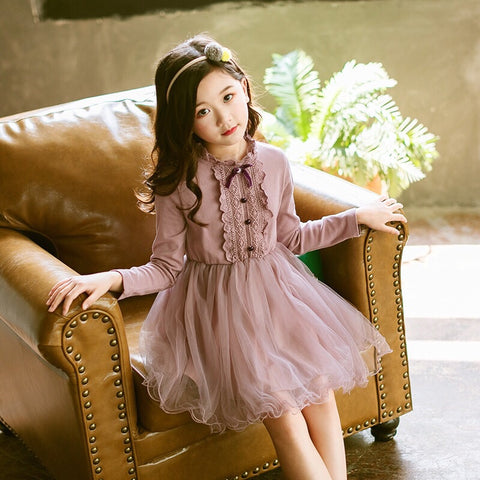 Girls purple dress