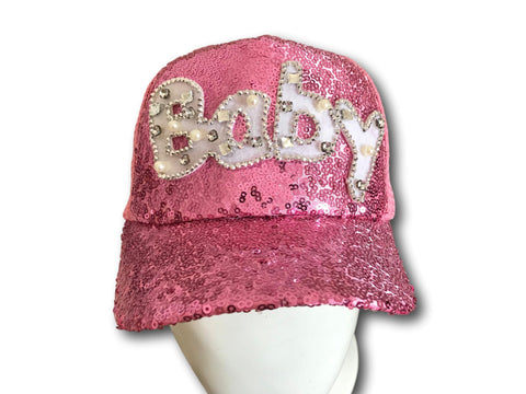 Pink Glitter Ponytail Ponycap Mesh Adjustable Baseball Baby Kids Sports Cap Hat