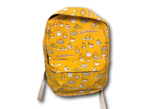 Anime Cartoon Gudetama Lazy Egg Canvas School Bag laptop Backpack Yellow T1