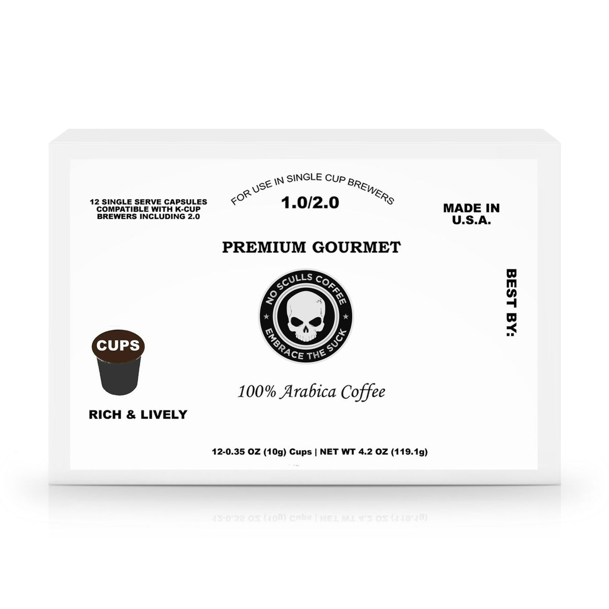12 Pack Single Serve Coffee Capsules - noscullscoffee