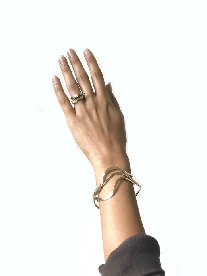 Flow Brass Bangle