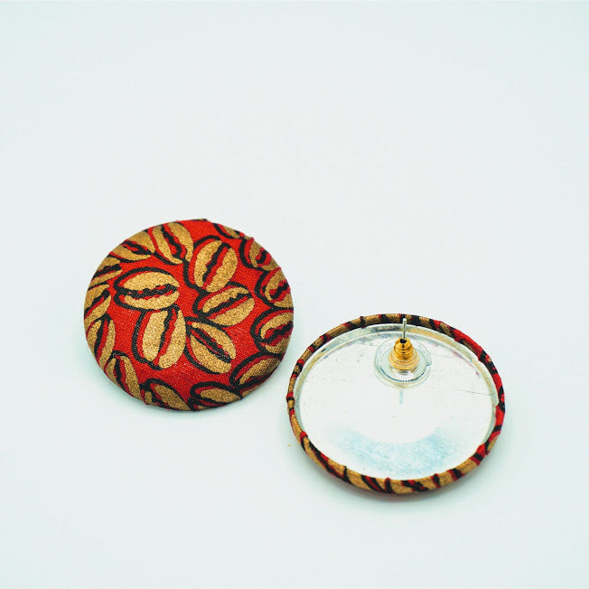 African Fabric Post Earrings