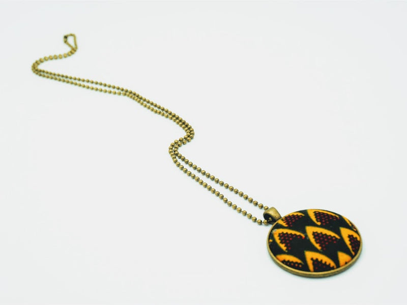 African Fabric Pendant Necklace