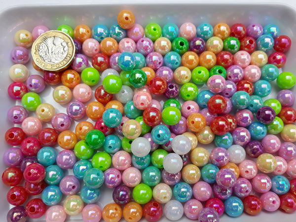 BULK BAG 200 gms - Mixed Acrylic Pearl Beads