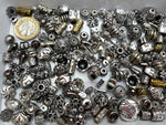 BULK BAG 150 gms - Mixed Metalized Acrylic (CCB) Antique Silver Beads