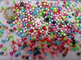 BULK BAG 150 gms - Mixed Acrylic Cube 4mm Beads