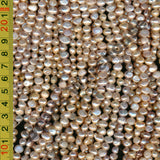 [#A] Freshwater Pearls 5x7mm Baroque Nugget Pink / Light Pink / Mauve Colour