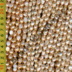 [#C] Freshwater Pearls 7x9mm Baroque Nugget Pink / Light Pink / Peach Colour