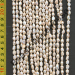 [#H] Freshwater Pearls 5x8mm Baroque Pink / Light Pink / Peach Colour
