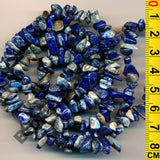 "Lapis - Gemstone Crystal Tumble Chips Beads 34-36"" Long Strand"