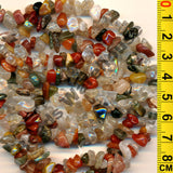 "Quartz (Mixed) - Gemstone Crystal Tumble Chips Beads 34-36"" Long Strand"