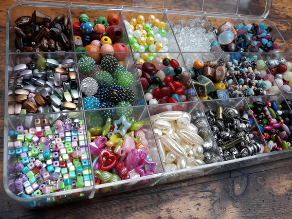 Assorted Bead Box Kit - 18 Assortments = Total 740gms