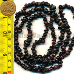 "Garnet - Gemstone Crystal Tumble Chips Beads 34-36"" Long Strand"