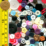 Mixed Plastic Buttons - 100g