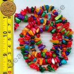 "Shell (Mixed) B - Tumble Chips Beads 34-36"" Long Strand"