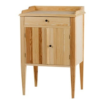 Gustavian bedside cabinet in natural wood
