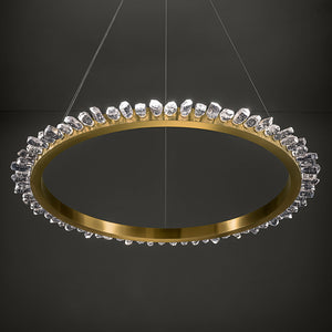 Rock Crystal Ceiling Light - detail
