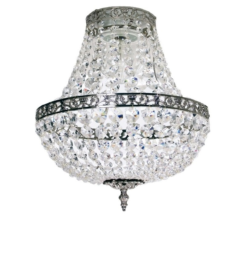 Chrome empire style bathroom chandelier IP44