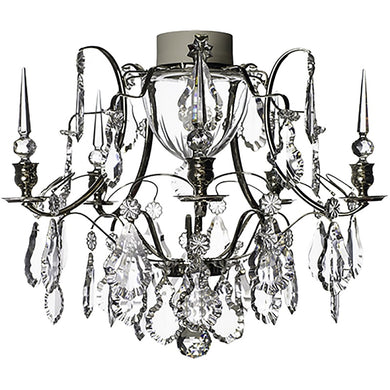 Nickel plated bathroom chandelier IP44