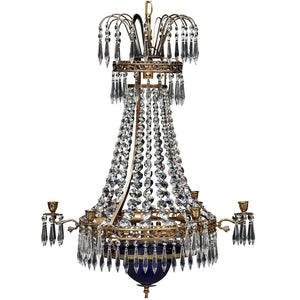Swedish Crystal Chandelier 1900's