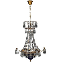 Swedish Crystal Chandelier 1900's - detail 2
