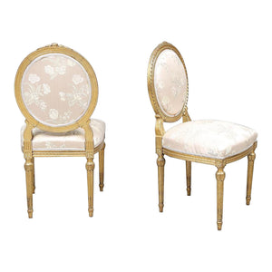 Antique Louis XVI Style Chairs - sides