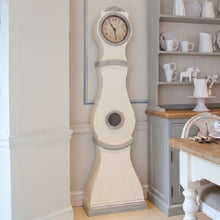 Swedish White painted replica Mora Clock - detail
