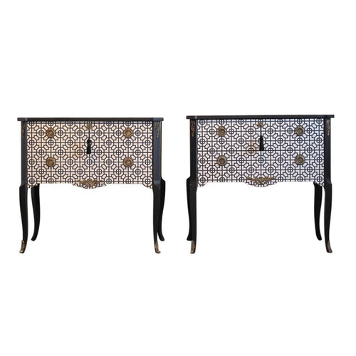 (203-2) Art Deco Commode (A Pair) (DaVinci)