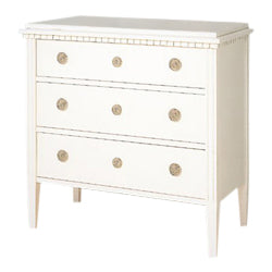 Louis Chest of Drawers - white painted finish
