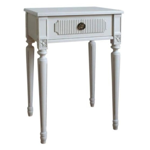 Gustavian bedside table with carving