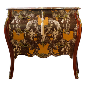 Rococo Three Drawer Chest With Marble Top (DaVinci)