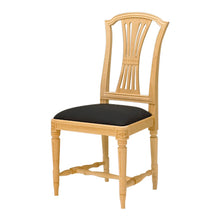 Gustavian hand painted chair black seat